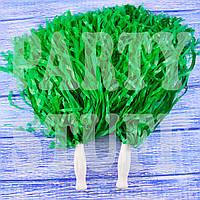 Помпон для черлидеров зеленые, 36 см