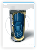 Бойлер косвенного нагрева напольный TESY EV12S 300 60 F40 TP 300 л 1 теплообменник