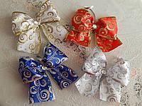 Шикарные новогодние банты на елку разные цвета, фото 1
