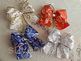 Шикарные новогодние банты на елку разные цвета