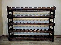 Подставка-стойка для винных бутылок (50 бутылок), ручная работа.