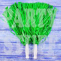 Султанчики черлидеров светло-зеленые, 36 см, фото 1