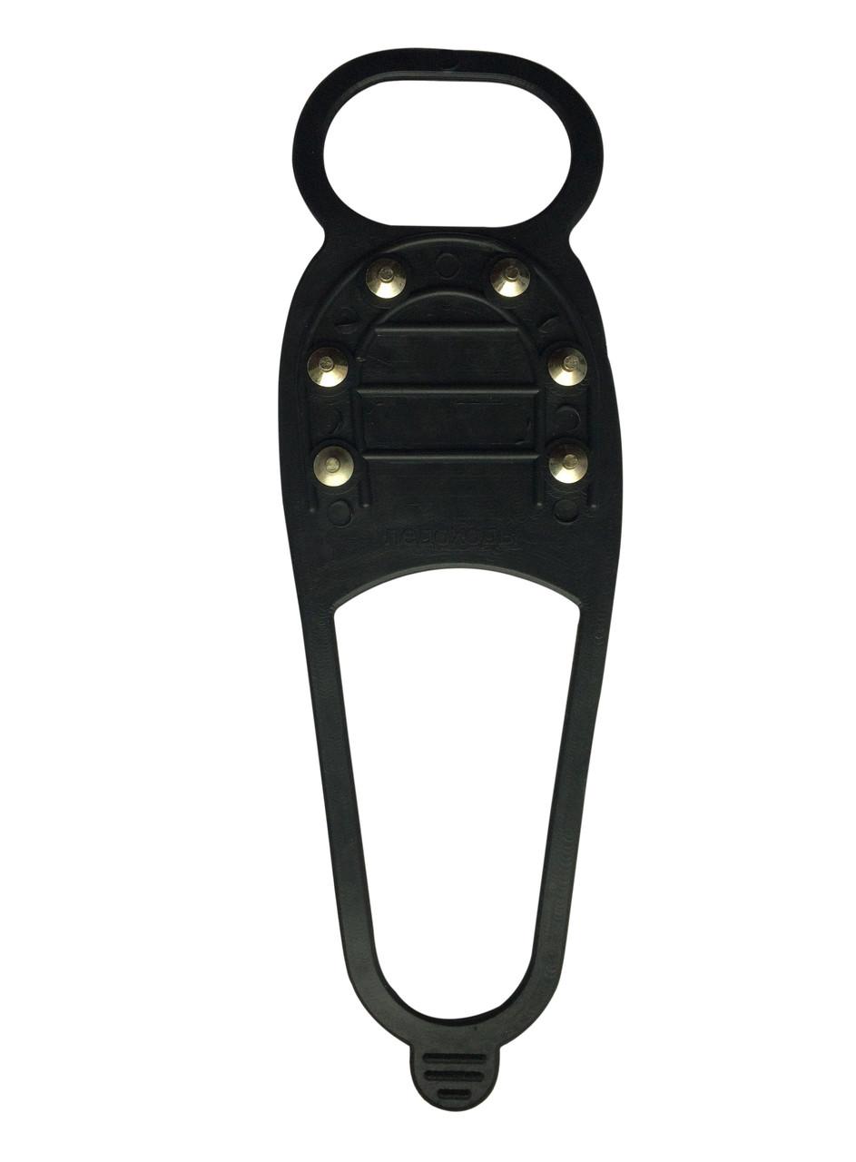 Ледоступы резиновые 6 шипов, насадка на обувь для ходьбы по льду, ледоходы
