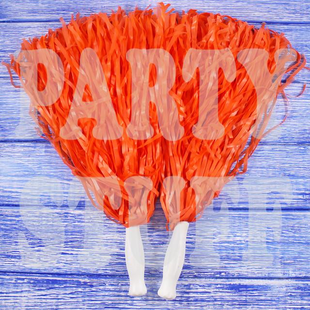 оранжевые помпоны для черлидеров