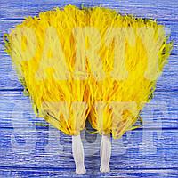 Помпоны черлидера желтые, 36 см, фото 1