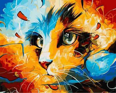 Набор-раскраска по номерам Кот Леонардо, фото 2