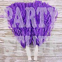 Помпон черлидера фиолетовые, 36 см, фото 1