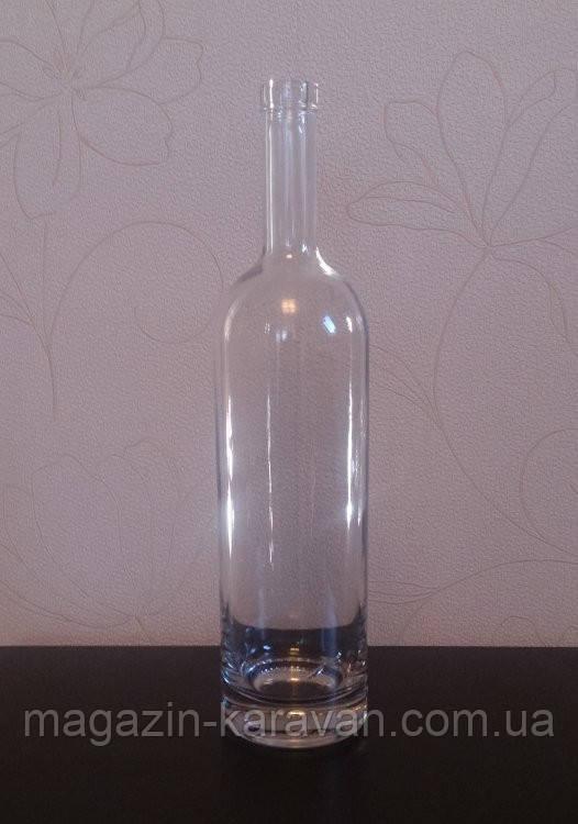 """Стеклянная бутылка винная 1,0 л """"Белуга"""""""