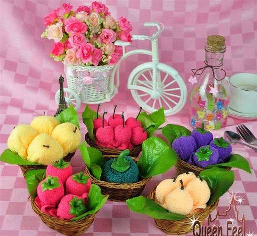 Рушник-тістечко Яблука в кошику, фото 2