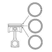 Кольца поршневые Ветерок-8 (норма) *