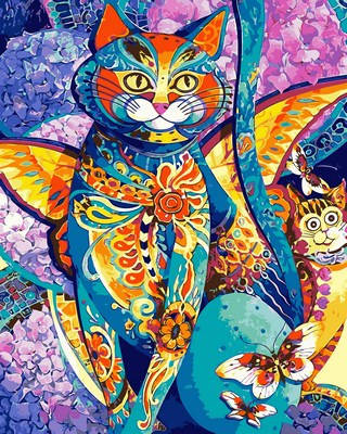 Набор-раскраска по номерам Чеширский кот, фото 2