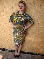 Стильное женское трикотажное платье на каждый день, фото 1