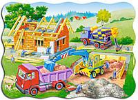 Пазлы Строим дом, 30 элементов, Castorland В-03198