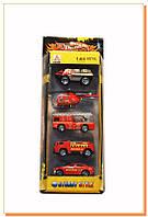Набор машинок металл1:64 пожарная техника 89513