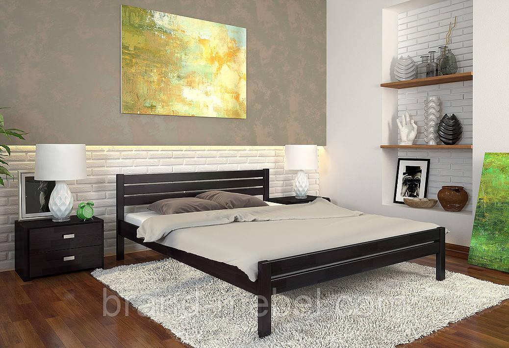Ліжко дерев'яне двоспальне Роял / Кровать деревянная двуспальная Роял