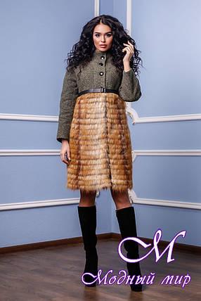 Зимнее женское пальто с мехом (р. 42-50) арт. 976 Тон 45, фото 2