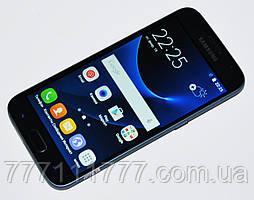 """Смартфон Samsung S7 (2SIM или 1SIM+карта памяти) 5""""  4/1 ГБ 8/5 Мп черный black Гарантия!"""