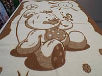 Одеяло детское шерстяное коричневое