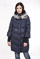 Теплая зимняя удлинённая курточка