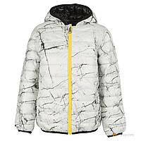Куртка демисезонная двухсторонняя черным и серым цветом мальчик  черный 3f9e35b866ae3