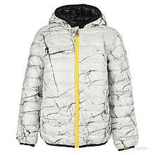 Куртка демисезонная двухсторонняя черным и серым цветом мальчик черный,серый 163MHAA001 MEK, Италия