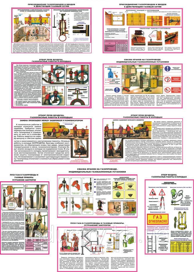 """""""Безопасность работ в газовом хозяйстве"""" (10 плакатов, ф. А3)"""