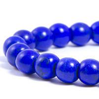 Бусины Синтетическая Бирюза, Окрашенные, На нитях, Круглые, Цвет: Полуночно-синий, Размер: Диаметр: 8мм, Отверстие 1мм, около 50шт/нить, (УТ0030774)
