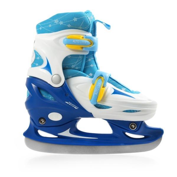 Коньки ледовые фигурные регулируемые SMJ boy CRK41 звёздочки 2016