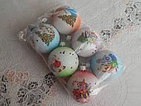 Красивые  новогодние шары на елку 6см, фото 1
