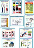 """""""Газові балони. Забарвлення, написи, маркіровка, транспортування"""" (10 плакатів, ф. А3)"""