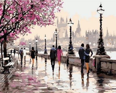 Набор-раскраска по номерам Цветущая набережная худ Ричард Макнейл
