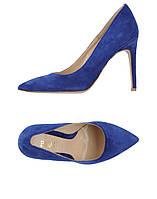 Синие замшевые туфли Baldi