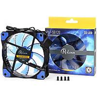Вентилятор ProLogix PLF-SB120R4 120*120*25 Blue LED, BOX
