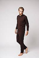 Чоловіча піжама коричнева з тонкого трикотажу від  ТМ Balcony Garment