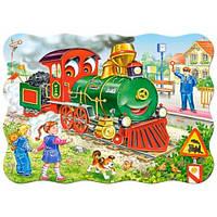 Пазлы Зеленый локомотив, 30 элементов, Castorland В-03433