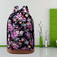 Рюкзак женский с цветочным принтом, фото 1