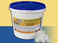 Химия для бассейна Crystal Pool длительный хлор в таблетках Slow Chlorine Tablets Small - 5кг (табл.20г)