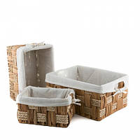 Плетеные корзины для хранения (32*25*16 см большая) 3шт.