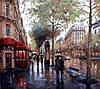 """Раскраска по номерам """"Дождливый день"""""""