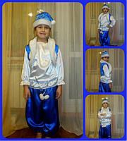 Карнавальный костюм зимний месяц прокат. Костюм мороз, морозко, снег, снежок прокат Киев, фото 1