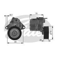 Натягувач поликлинового ременя для Mercedes-Benz Sprinter , Vito 639 , Vito 638 , W210 , W211 ( GATES T38415 )