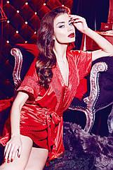 Комплект халат та сорочка червоного кольору. ТМ  Anabel Arto. 50