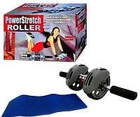 Тренажер-колесо для пресса двойного действия с ковриком MS 0086 АВ