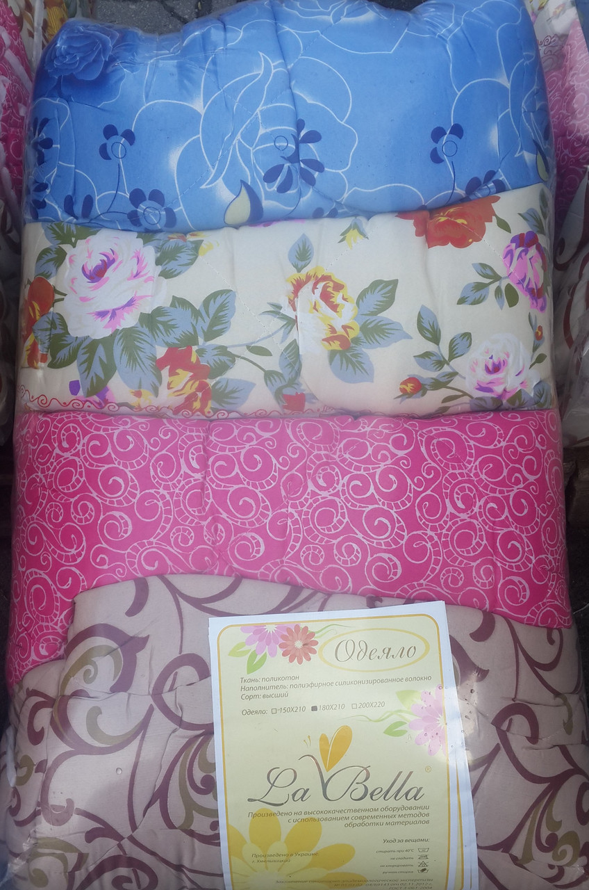 Теплое одеяло двуспальное La Bella в асортименте