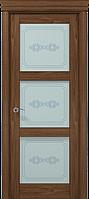 """Двери межкомнатные Папа Карло """"Milenium ML-07 бевелс"""" орех"""