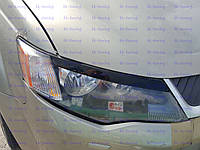 Реснички на фары Митсубиси Аутлендер XL