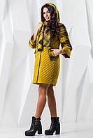 Демисезонное  женское   пальто   В-971 Helsing+Лаке Тон 5  44,46,52-60 размеры