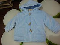 Куртка демисезонная с деревянными пуговицами,плюшевая мальчик голубой 41071913 Melby Италия