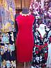 Женское красное платье нарядное из бархата