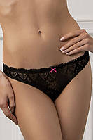Трусики стринг(M) кружевные, Isabel, черный, Jasmine lingerie